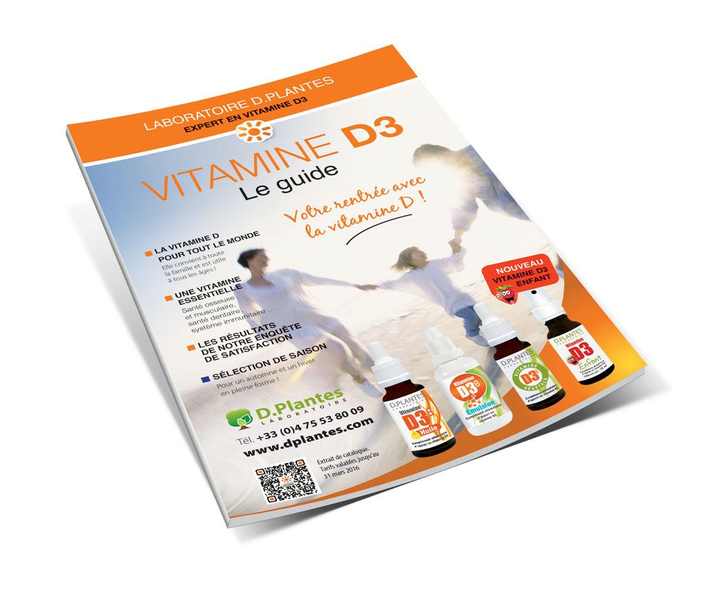 Laboratoire D.Plantes, catalogue vitamine D3 VAD. Yes graphiste, site internet et e-commerce, communication. Yes on y va ! Drôme 26.