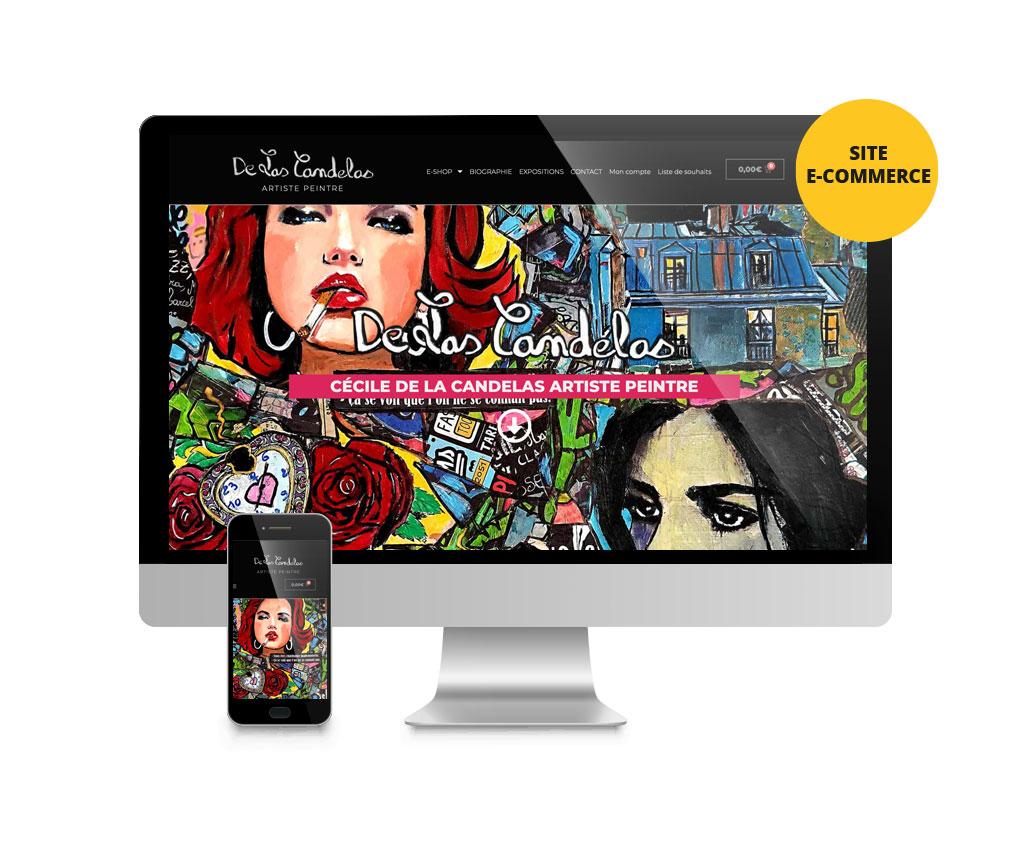 De Las Candelas Cécile, artiste peintre, création site e-commerce. Yes graphiste, site internet et e-commerce, communication. Yes on y va ! Drôme 26.
