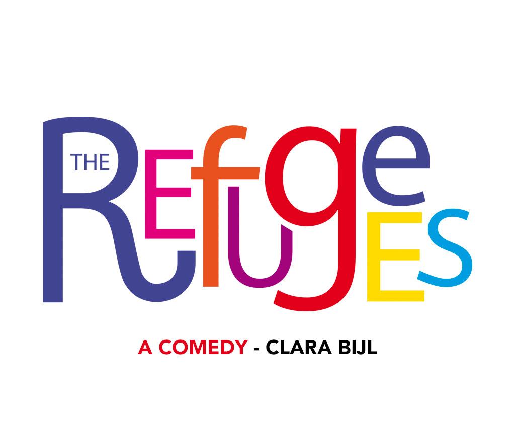 The Refugees Comedy, logo, kit promotion. Yes graphiste, site internet et e-commerce, communication. Yes on y va ! Drôme 26.